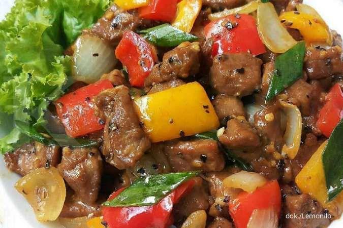 Resep Cah Daging Kecap Paprika, Menu Harum Masakan Daging yang Ditumis
