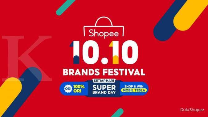 Kampanyekan 10.10 Brand Festival, Shopee bakal bagi-bagi mobil Tesla 3