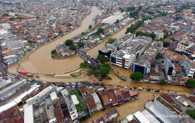 Banjir setinggi 1 meter merendam Kampung Melayu Jakarta Timur