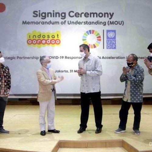 UNDP Gandeng Indosat Ooredoo untuk Dukung Penanggulangan Covid-19 dan Percepatan SDGs di Indonesia