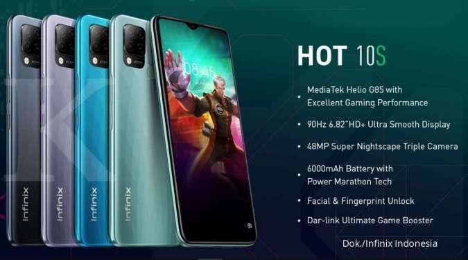 Varian warna dan spesifikasi Infinix Hot 10s