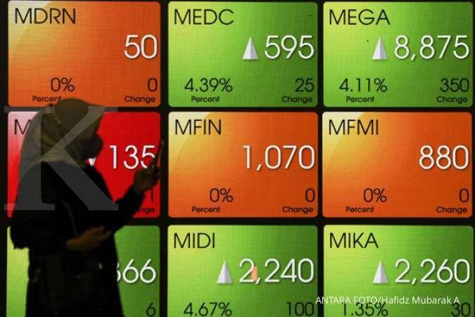 IHSG melonjak 1,36% ke 6.626 pada Kamis (14/10), asing beli BBCA, TLKM, BMRI