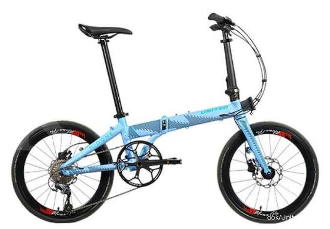 Jago dijalanan, harga sepeda lipat United Mirone Pro dibanderol tidak terlalu mahal