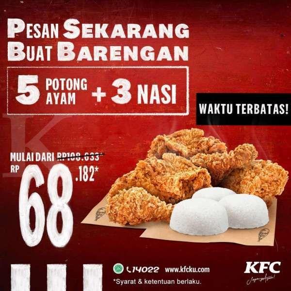 Promo KFC 2-31 Maret 2021