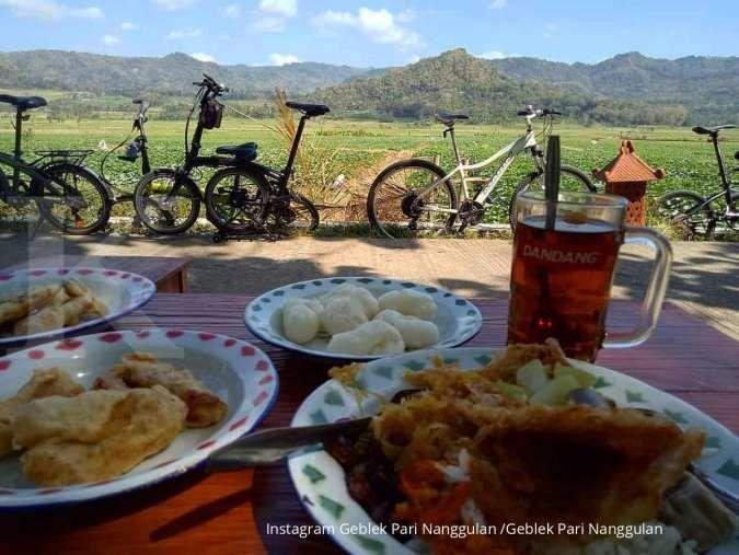 Geblek Pari di Kulon Progo, tempat makan sekaligus wisata berlatar sawah