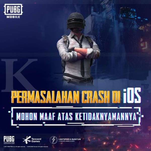 PUBG Mobile crashs di IOS