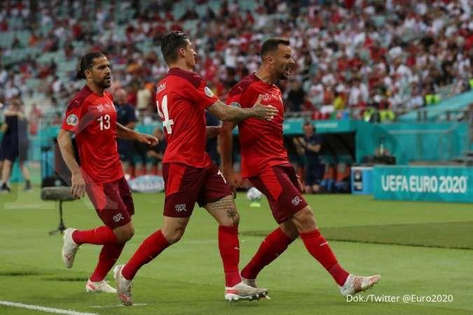 Hasil Euro 2020 laga Swiss vs Turki di Grup A