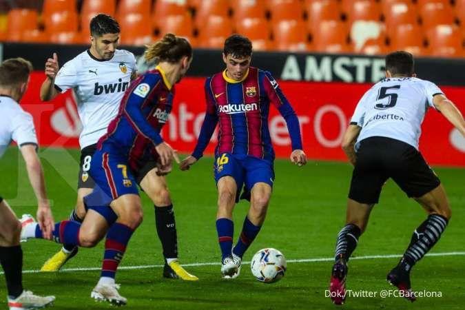 Hasil laga Valencia vs Barcelona di La Liga Spanyol