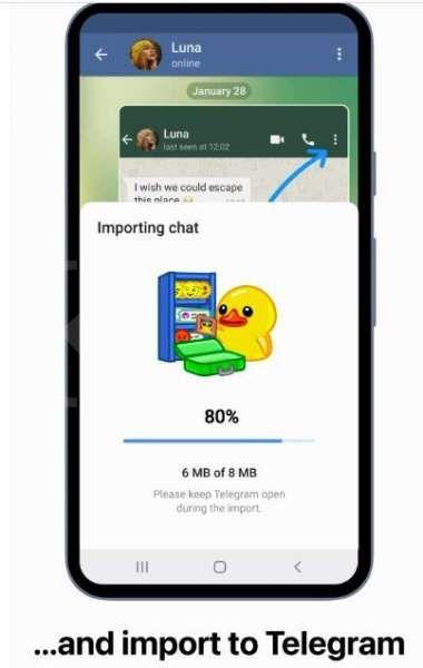 Memindahkan obrolan WhatsApp ke Telegram