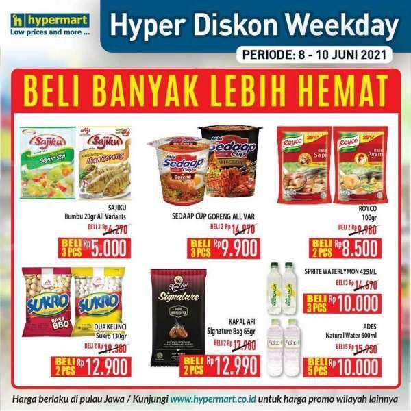Hypermart promo weekday 8-10 June 2021