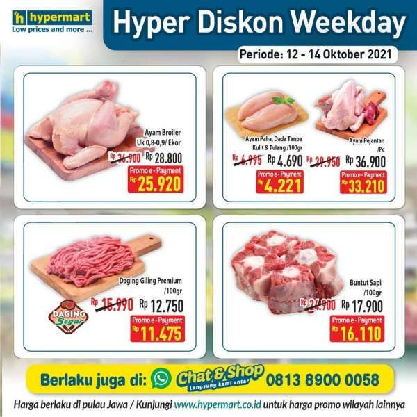 Promo Hypermat Hyper Diskon Weekday 12-14 Oktober 2021