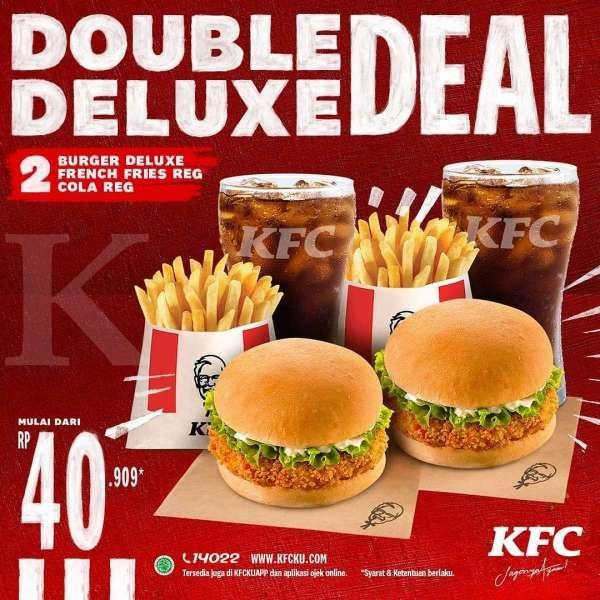 Promo Kfc Periode 23 30 September 2020 Double Deluxe Deal Mulai Dari Rp 40 909