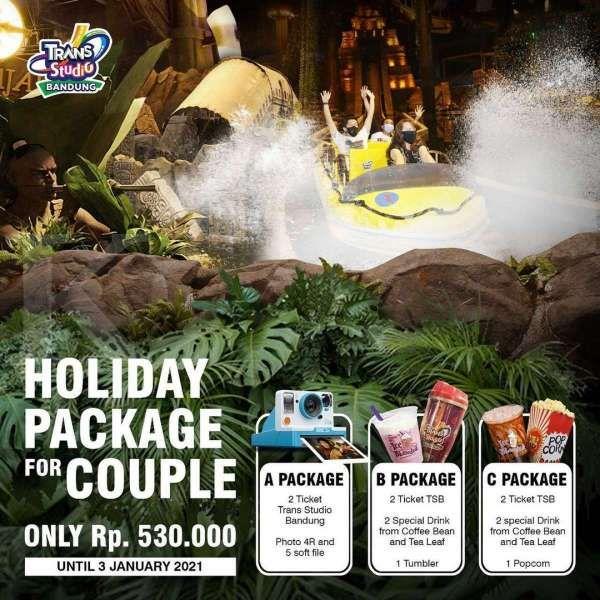 Promo Trans Studio Bandung 31 Desember 2020 – 3 Januari 2021, paket Holiday Couple!