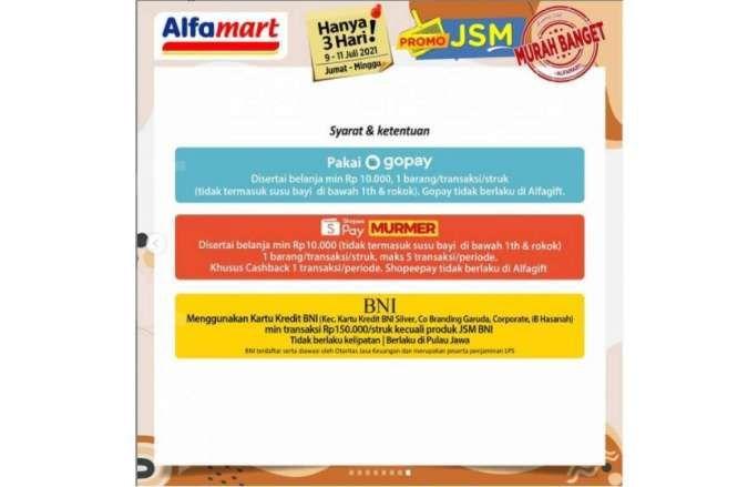 Promo JSM <a href='https://banten.tribunnews.com/tag/alfamart' title='Alfamart'>Alfamart</a> 9-11 Juli 2021