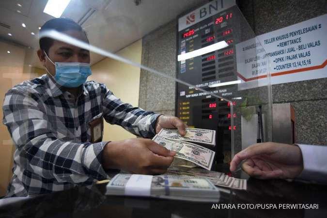 Tengah siang, Rupiah spot masih naik tipis menjadi Rp 14.107,50 per dolar AS