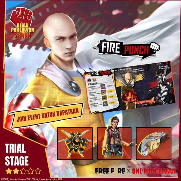 Event Trial Stage Free Fire X One-Punch Man