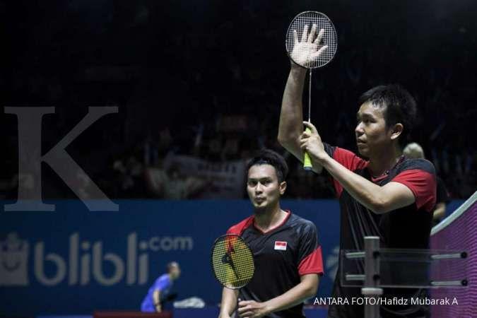 Menang dengan susah payah, The Daddies akhirnya tembus semifinal Indonesia Open 2019
