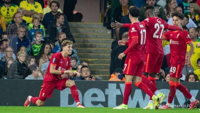 Hasil Norwich vs Liverpool di Carabao Cup: The Reds bantai Canaries 0-3