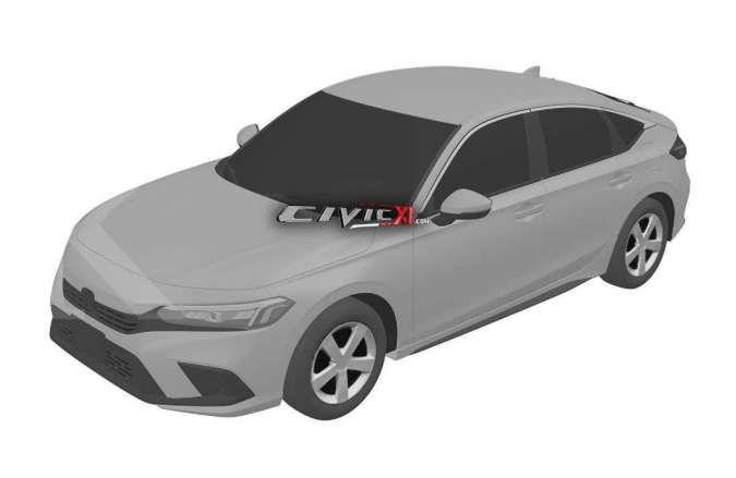Bocor di internet, begini penampakan gambar paten Honda Civic terbaru