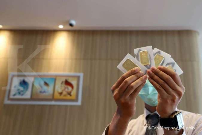 Harga emas hari ini (15/10) di Butik Emas Antam naik Rp 2.000 per gram