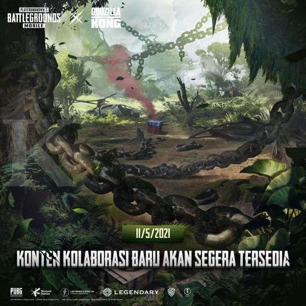 Kolaborasi PUBG Mobile X Godzilla vs. Kong