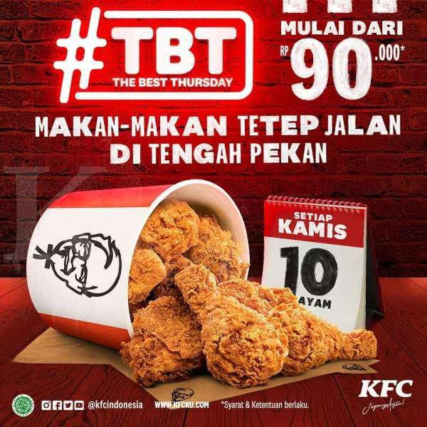 The Best Thursday dari KFC hari ini 4 Maret 2021, apa promonya?