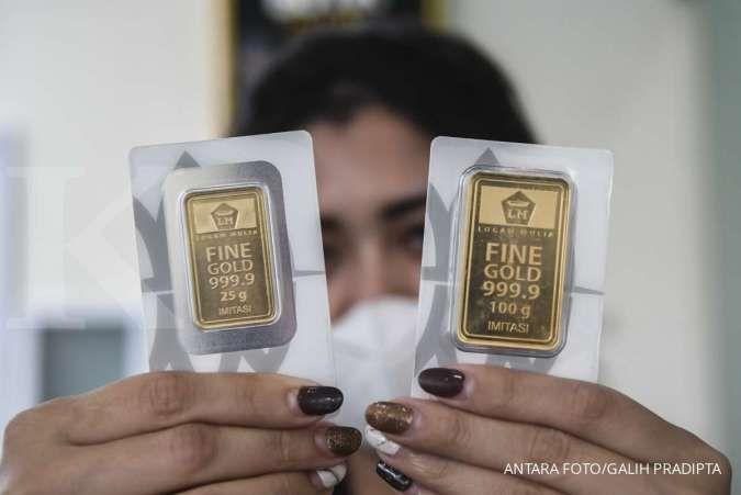 Harga emas Antam stagnan di Rp 921.000 per gram pada hari ini, Senin (3/5)