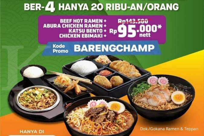 Promo Gokana 16-23 Oktober 2021, Makan 4 Porsi Cuma Rp 95.000 nett via GrabFood