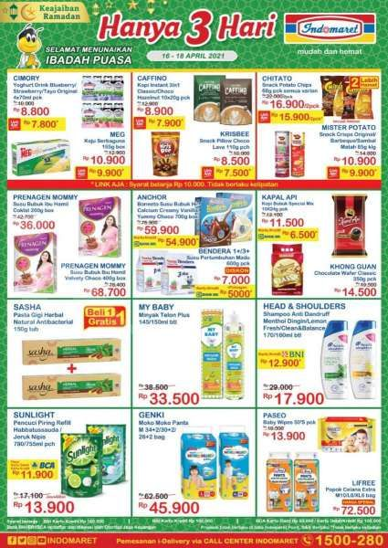 Promo Indomaret Hanya 3 Hari 16-20 April 2021