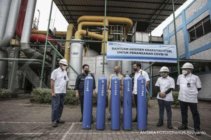 Krakatau Steel (KRAS) telah salurkan oksigen sebanyak 3.854 tabung