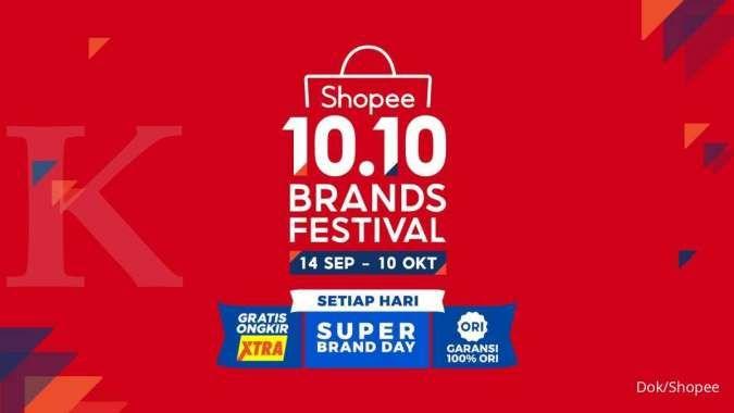 Shopee kembali menggelar Brand Festival 10.10 dengan menggandeng brand ternama