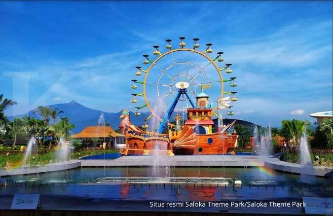 Punya banyak zona dan wahana seru, cek harga tiket masuk Saloka Theme Park