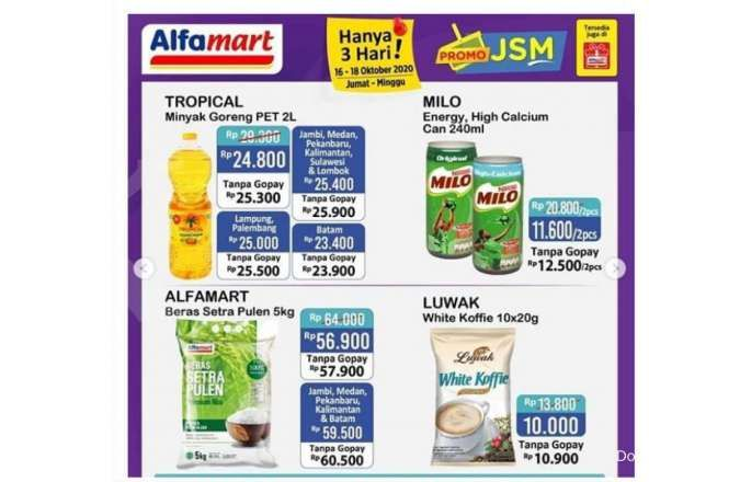 Promo Alfamart JSM terbaru, diskonan Sabtu 17 Oktober 2020!