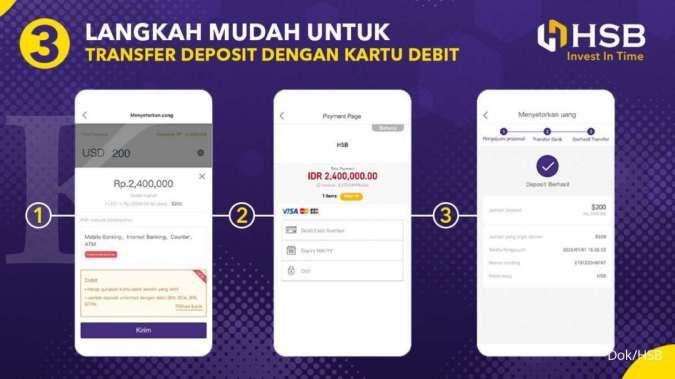 Permudah transaksi trading forex, HSB punya fitur transfer deposit via kartu debit