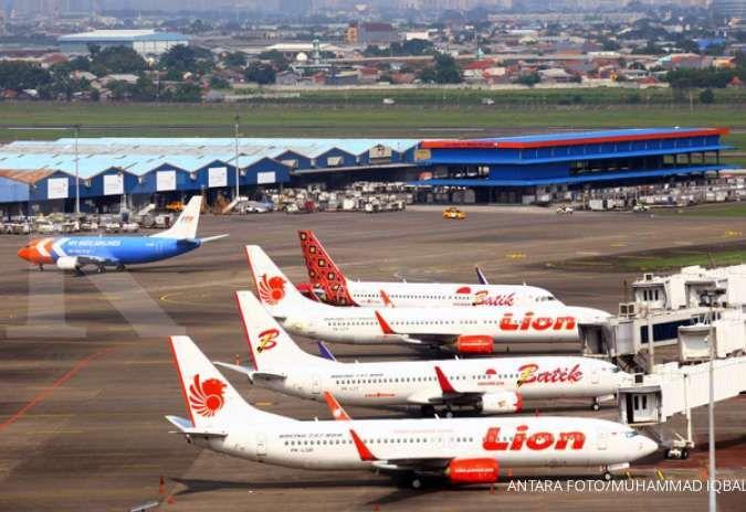 Pergerakan pesawat menurun 65,54% selama Lebaran tahun 2021