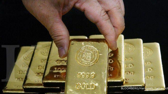 Harga emas rebound sejenak