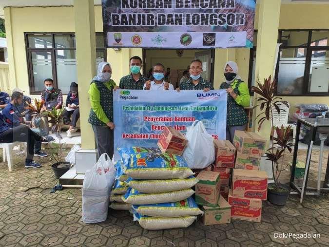 Pegadaian berikan bantuan kepada korban longsor di Sumedang