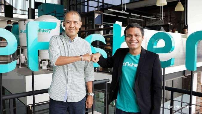 Kerja sama Investree dengan perusahaan rintisan agriculture technology (agritech) eFishery, untuk mendistribusikan pembiayaan senilai Rp 30 miliar kepada para pembudidaya ikan di Indonesia.