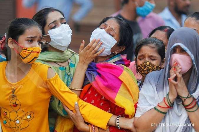 Kasus virus corona di India tembus 9 juta orang