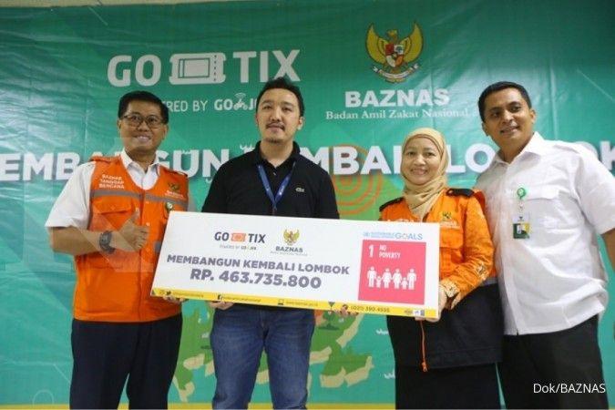 Donasi untuk korban gempa lombok dari GO-TIX dan BAZNAS segera disalurkan