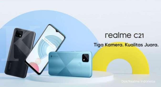 Mulai dari Rp 1,6 jutaan, berikut daftar harga HP Realme C21 terbaru