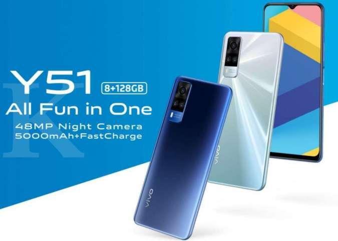 Rekomendasi HP RAM 8GB, harga Vivo Y51 kini hanya Rp 3,3 jutaan
