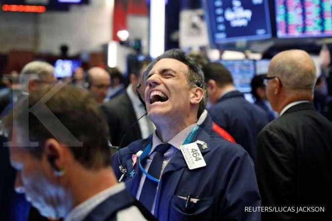 Wall Street naik ditopang data ekonomi AS yang solid dan harapan resolusi perdagangan