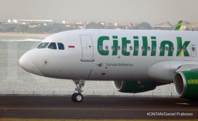Pesawat Citilink mendarat darurat pasca seorang anak lepas penutup tuas pintu darurat