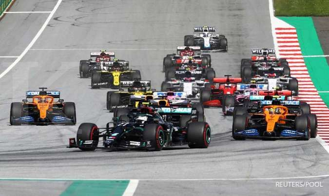 Valtteri Bottas finis terdepan dan Lando Norris raih podium perdana di GP Austria