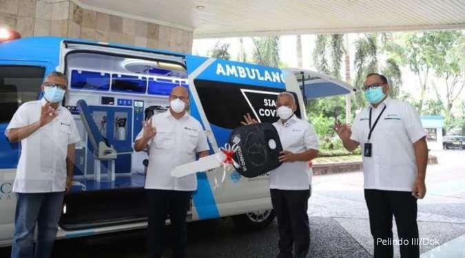 Pelindo III dukung penanganan wabah Covid-19 dengan menyumbang ambulance