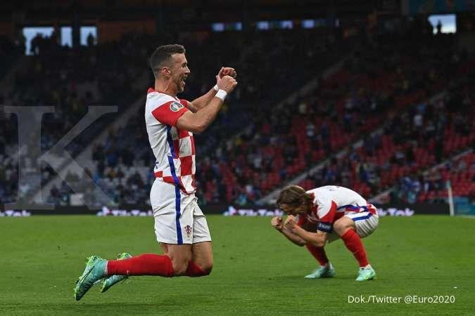 Hasil Euro 2020 Kroasia vs Skotlandia: Menang 3-1, Tim Vatreni kejutkan Tartan Army