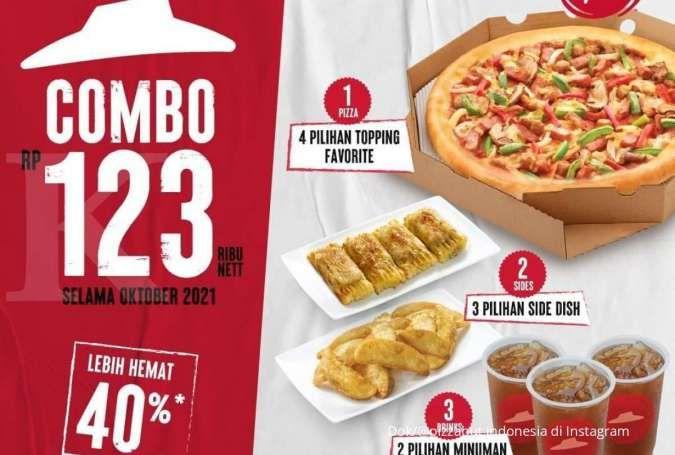 Promo Pizza Hut selama Oktober 2021, paket lengkap combo 123 dengan harga spesial