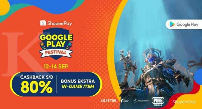 Promo ShopeePay Google Play Festival, dapatkan bonus ekstra in-game item PUBG Mobile