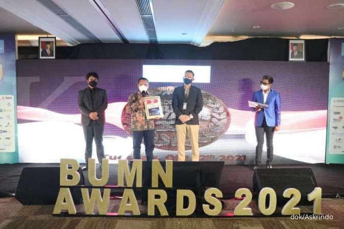 Askrindo raih penghargaan The Best Brand Image pada Indonesia BUMN Awards 2021